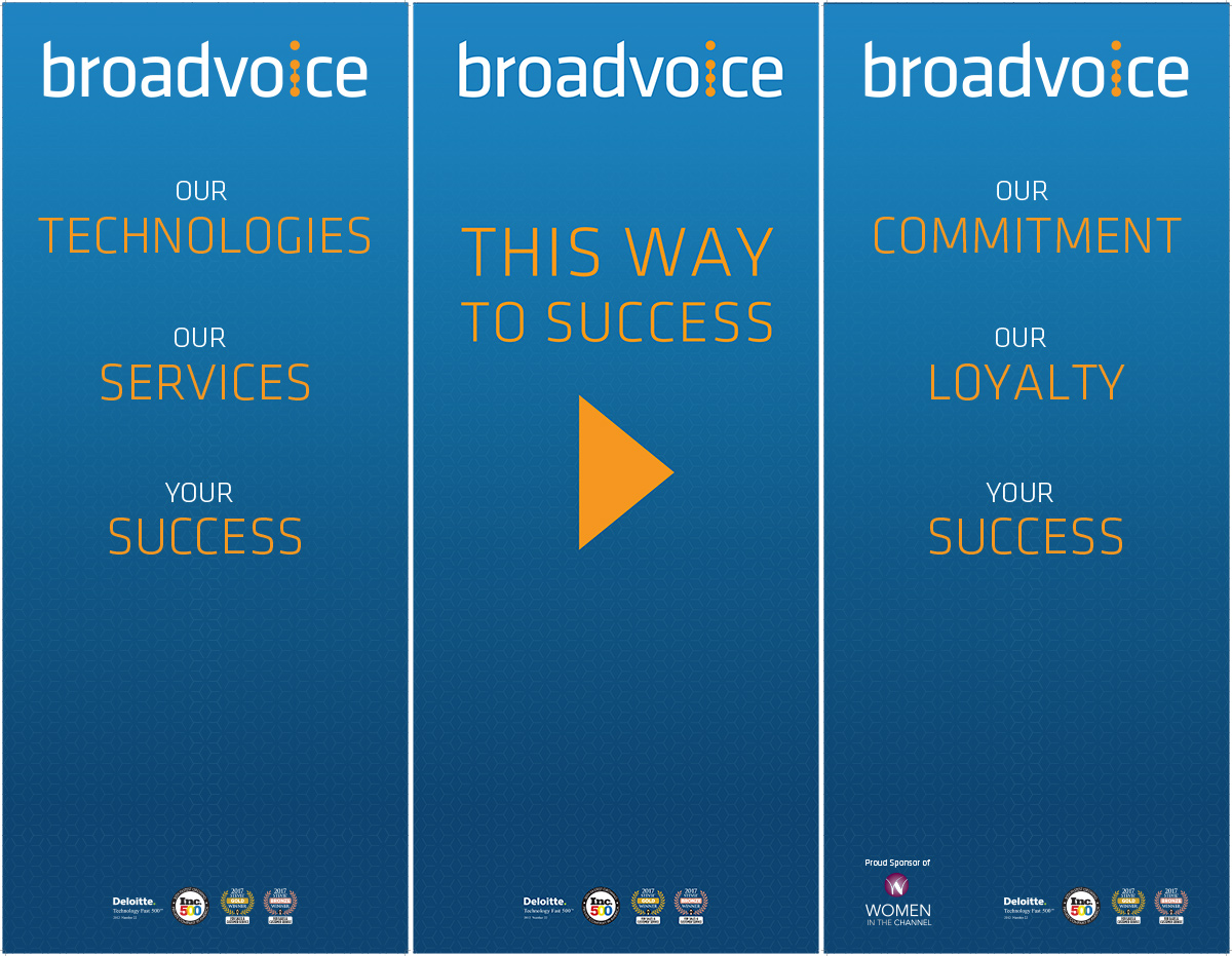 Layout for Broadvoice Retractable Banners