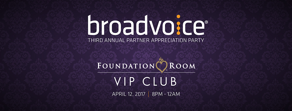 Layout for Broadvoice Third Annual Party